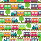Het vervoer als thema had Naadloos Tileable-Patroon Als achtergrond Stock Afbeelding