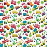 Het vervoer als thema had Naadloos Tileable-Patroon Als achtergrond Stock Fotografie