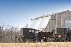 Het vervoer van Amish Royalty-vrije Stock Foto's