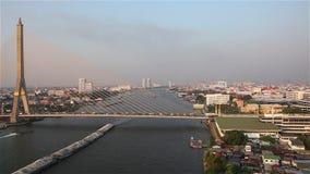 Het vervoer van Bangkok stock video