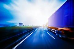 Het vervoer van de containervrachtwagen Royalty-vrije Stock Afbeelding