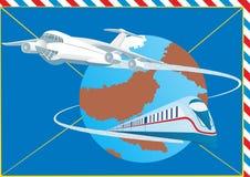 Het vervoer van de post vector illustratie