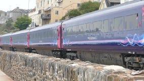 Het vervoer van de treinspoorweg stock footage