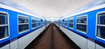 Het vervoer van de treinspoorweg Stock Afbeeldingen