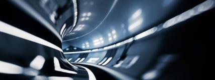 Het vervoer van de tunnelweg Stock Afbeelding