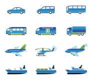Het vervoer van de weg, van de lucht, van het spoor en van het water Stock Foto's
