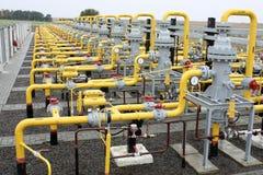 Het vervoer van het gas stock afbeeldingen