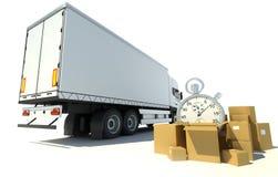 Het vervoer van het tijdverslag Stock Afbeeldingen