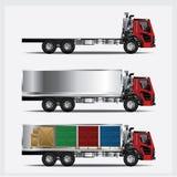 Het Vervoer van ladingsvrachtwagens Stock Afbeelding