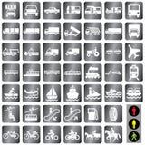 Het vervoer van pictogrammen Royalty-vrije Stock Foto