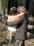 Het vervoeren van de bruid. Stock Foto
