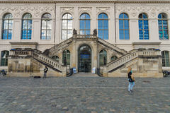 Het Vervoermuseum van Dresden op vierkante Neumarkt Royalty-vrije Stock Foto