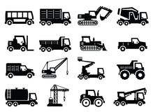Het vervoerpictogrammen van de bouw Stock Foto