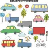 Het vervoerreeks van de Infographickrabbel Royalty-vrije Stock Afbeeldingen