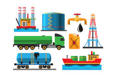 Het vervoers vectorillustratie van de olieextractie Royalty-vrije Stock Fotografie