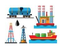 Het vervoers vectorillustratie van de olieextractie Stock Foto