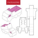 Het vervoersconcept van het pakketmalplaatje pakketmalplaatje vector illustratie