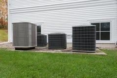 Het verwarmen en airconditioningseenheden royalty-vrije stock fotografie