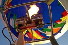 Het verwarmen van de ballon Stock Foto's
