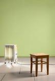 Het verwarmen van radiator in lege ruimte Stock Afbeelding