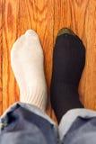 Het verwarren sokken Stock Foto's
