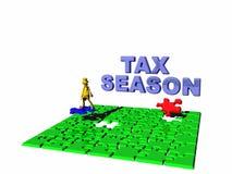 Het in verwarring brengende belastingsseizoen. Royalty-vrije Stock Foto's
