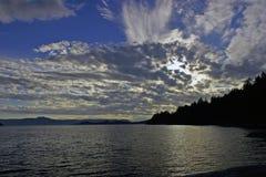 Het verzamelen van Wolken Stock Foto's
