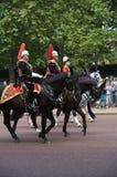 Het verzamelen zich van de Kleur, de verjaardag van de Koningin Stock Foto's