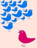 Het verzamelen zich van vogels stock illustratie