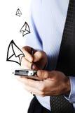 Het verzenden van e-mail Stock Foto