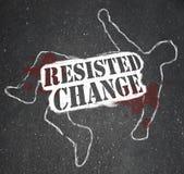 Het verzetten vanzich tegen Verandering leidt tot In onbruik raken of Dood Royalty-vrije Stock Afbeelding