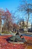 Het veulen van beeldhouwwerkpegasus bij Tverskoy-Boulevard in Moskou royalty-vrije stock fotografie