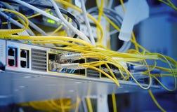 Het vezel optische netwerk stock afbeelding