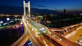 Het Viaduct van Boekarest timelapse Basarab stock video