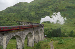 Het viaduct van de Glenfinnantrein Stock Foto