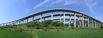 Het Viaduct van de weg Royalty-vrije Stock Afbeeldingen