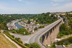 Het Viaduct van Dinan Stock Fotografie