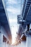 Het Viaduct van het hoge snelheidsspoor stock afbeelding