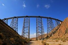 Het viaduct van La Polvorilla, Tren een Las Nubes, noordwesten van Argentinië Royalty-vrije Stock Foto's