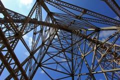 Het viaduct van La Polvorilla, Tren een Las Nubes, noordwesten van Argentinië Stock Foto