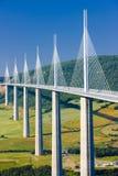 Het Viaduct van Millau Stock Foto's