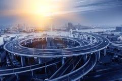 Het viaduct van Shanghai Stock Afbeelding