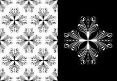 Het Victoriaanse Antieke Naadloze Patroon van het Behang Royalty-vrije Stock Afbeeldingen