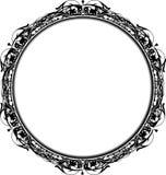 Het Victoriaanse Frame van de Cirkel Grunge Royalty-vrije Stock Foto's