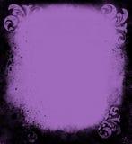 Het Victoriaanse Frame van de Lavendel van Grunge Stock Afbeeldingen