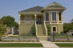 Het Victoriaanse Huis van Authenic in Benicia, CA. Stock Fotografie