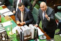 Het Victoriaanse Parlement van de Staat - Vragenuur 9 Februari, 2016 Stock Foto