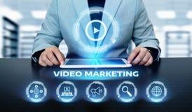 Het video Marketing Concept Reclame van de het Commerciële Netwerktechnologie van Internet stock afbeelding