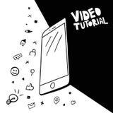 Het video stromen, blogging afficheconcept vector illustratie