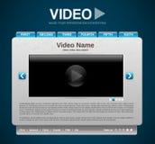 Het videomalplaatje van de presentatiewebsite Stock Foto